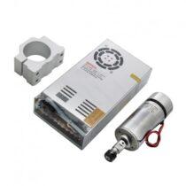 مجموعه کامل اسپیندل 48V DC دور بالا ER11 به همراه براکت نگه دارنده و منبع تغذیه 360W